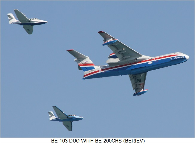 Beriev Be-103 duo with Be-200