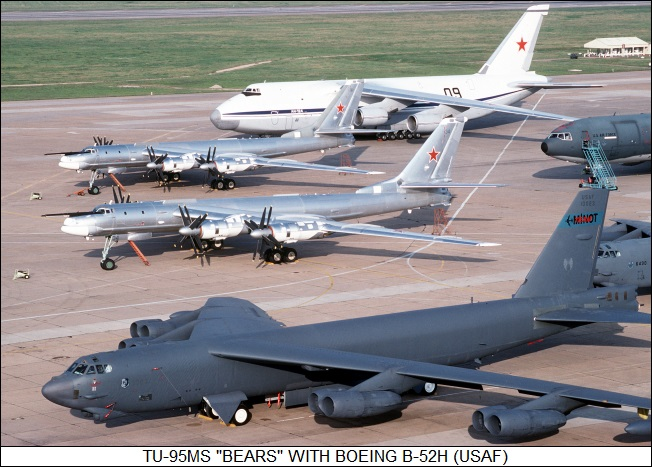 Tu-95MS Bears versus B-52H
