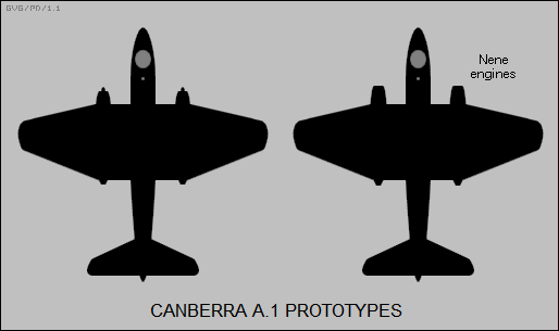 Canberra A.1 prototypes