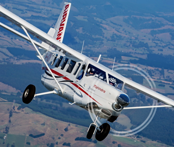 Cessna Caravan flies New Zealand