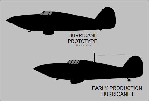Hurricane prototype, early production Hurricane I