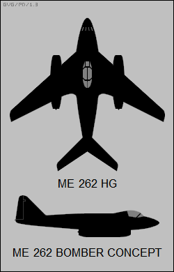 Me-262 HG, Me-262 bomber concept