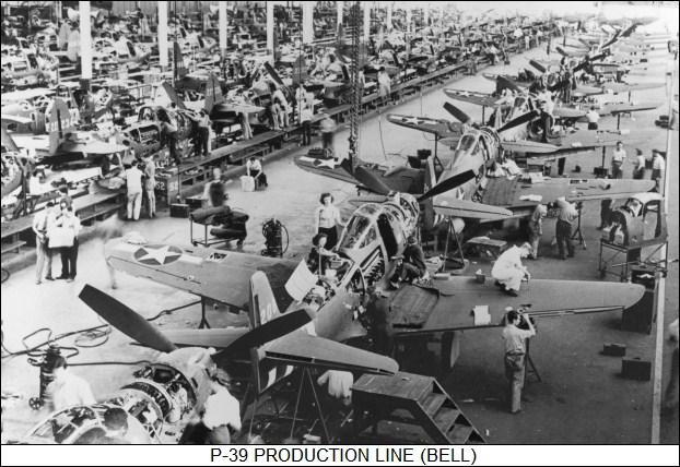 Bell P-39 production line