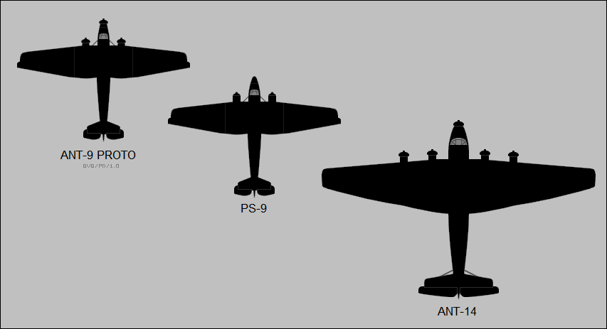 Tupolev PS-9 & ANT-14