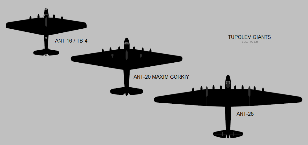 Tupolev ANT-16, ANT-20, & ANT-28